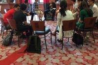 "INTERNATIONAL IDEAL 举办""环美校园行,以Coffee Chat全新形式助力留学生求职。时间2018年4月"